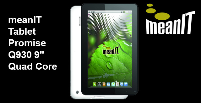 "MeanIT Promise Q930 9"" tablet unboxing"