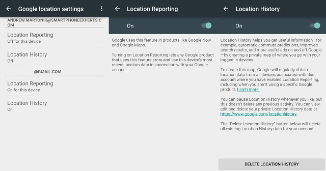 google-location-reporting