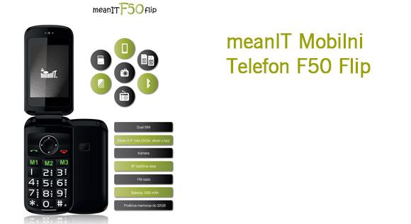 meanIT Mobilni Telefon F50 Flip
